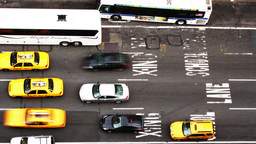 manhattan street scene traffic new york taxi Footage