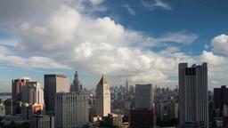 new york manhattan skyline NYC ny 4k Footage