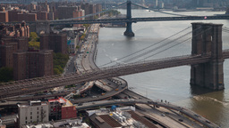 brooklyn bridge new york manhattan skyline NYC ny Footage