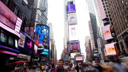 new york manhattan skyline NYC ny time square 4k Footage