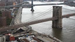 brooklyn bridge new york manhattan skyline NYC ny 4k Footage