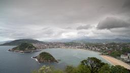 4k san sebastian basque water coast boats Footage