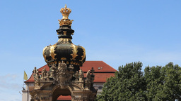 Dresden, Germany. Turret in Zwinger palace - archi Footage