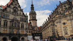 Dresden, Germany. The old town Footage