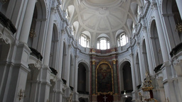 Dresden, Germany. Interior of Hofkirche - Cathedra Stock Video Footage