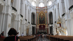 Dresden, Germany. Interior Of Hofkirche - Cathedra stock footage