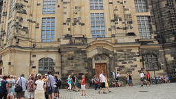 The Dresden Frauenkirche - Church of Our Lady. Ger Live Action