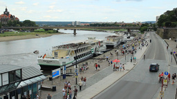 Dresden, Germany. The Elbe River stock footage