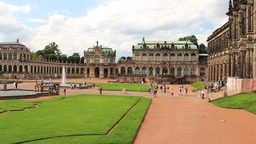 Zwinger palace - famous historic building in Dresd Footage