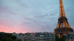 eiffel tower, paris france 4k Footage