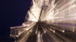 eiffel tower at night lights, paris france 4k Footage