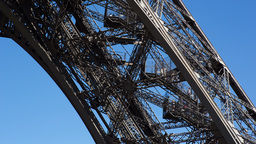 Eiffel Tower Leg, Paris France 4k stock footage