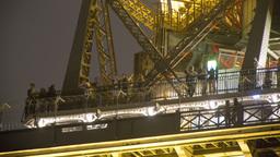 eiffel tower closeup tourists, paris france 4k Footage