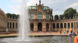 Zwinger Palace - Famous Historic Building In Dresd stock footage