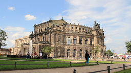 Dresden, Semper Opera, Germany stock footage