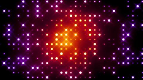 Red Glittering Light Grid Animation