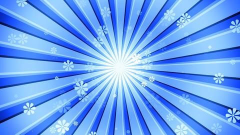 Blue Sun Burst Flowers Animation