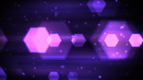 Moving Hexagon Shapes Animation