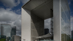 la defense grande arche, business, paris france 4k Footage
