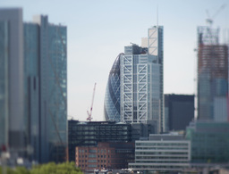 london city tilt shift england skyline business Footage