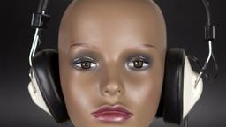 mannequin music headphones 4k Footage