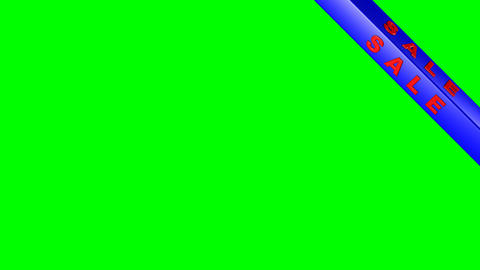 4k Advertising sale on a green background (alpha) Animation