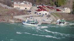 niagara falls usa canada toy boats 4k Footage