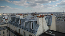 montmatre rooftops, paris france 4k Footage