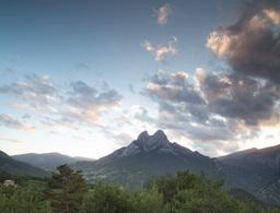 day to night timelapse pedraforca mountain spain Footage