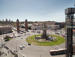 barcelona roundabout traffic Footage
