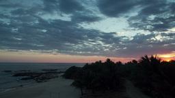mexico beach, sunset playa blanca 4k Footage
