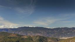 snow sun mountain range pyrenees landscape 4k Footage