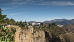 4k timelapse ronda city spain town mountains Footage