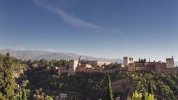 4k timelapse granada alhambra mountains Footage