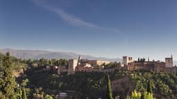 4k timelapse granada alhambra mountains Footage