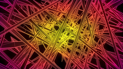 Wireframe Tunnel 02 Animation