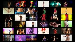shadow dancers multi screen Footage