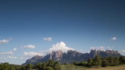 view mountains 4k montserrat sapni barcelona Footage