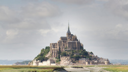 4k mont saint michel france tourist cathedral timelapse Footage