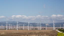 tarifa windturbines 4k energy power wind Footage