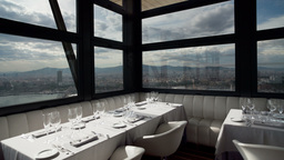 Luxury Restaurant In Barcelona 4k stock footage