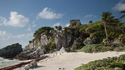 mayan ruins tulum mexico 4k Footage
