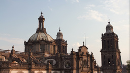 mexico city zocalo cathedral 4k Footage