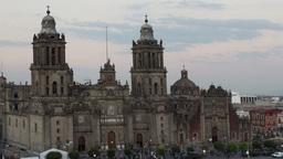 mexico city zocalo cathedral 4k Footage