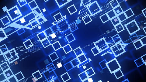 Blue Technology Grid Animation