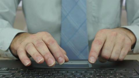 Businessman Working on Laptop Footage