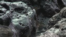 2011 Lava Beach Rocks 2 stock footage