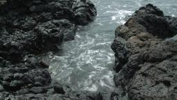2011 Lava Beach Rocks 4 stock footage