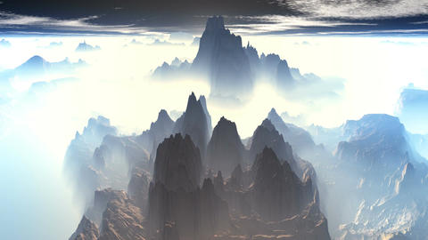Mountain peaks of fog Animation