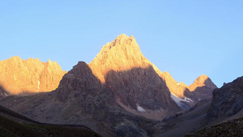 Mountains At Dawn. TimeLapse, Pamir, Tajikistan. 1 stock footage
